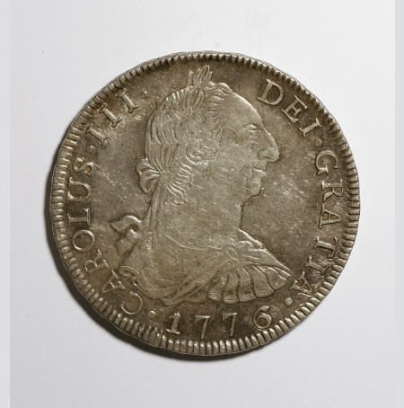 50497: Bolivia Carlos III 8 Reales 1776-PR, KM55, toned