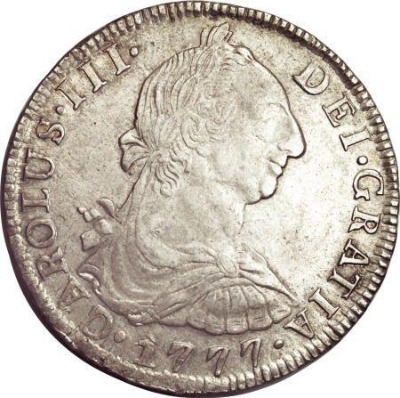 50498: Bolivia Carlos III 8 Reales 1777-PR, KM55,