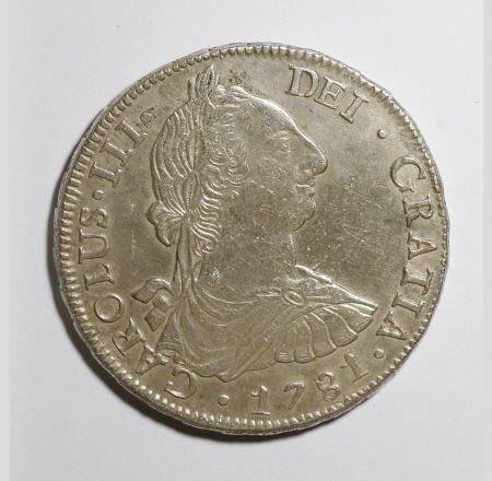 50500: Bolivia Carlos III 8 Reales 1781-PR, KM55,