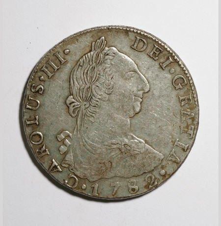 50501: Bolivia Carlos III 8 Reales - Trio of Dates,