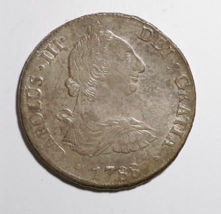 50502: Bolivia Carlos III 8 Reales - Three Dates, KM55,