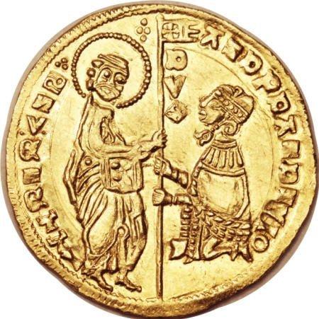 51929: Crusader gold Ducat ND (14th Century), Gamberini