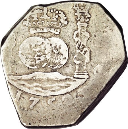 51930: Guatemala Ferdinand VI cob 8 Reales 1752-J,