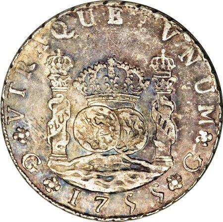 51931: Guatemala Ferdinand VI Pillar 8 Reales 1755-J,