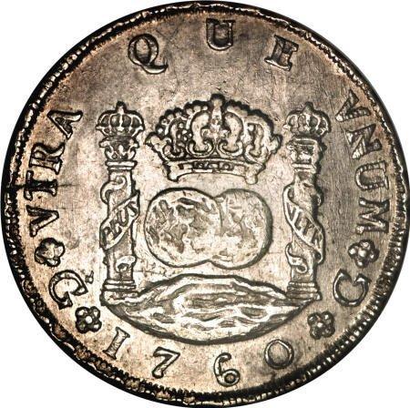 51932: Guatemala Carlos III Pillar 8 Reales 1760-P,