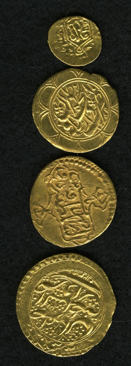 52042: Iran Quartet of Early gold Types, Scott to