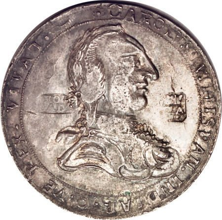 52269: Mexico Carlos IV silver Proclamation Medal 1789,