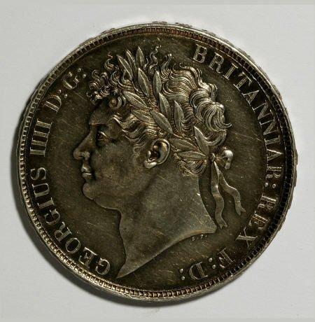 74639: Great Britain George IIII Crown 1821 Secundo,
