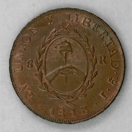 74003: Argentina Copper Medallic Issue 1813, 100 Years
