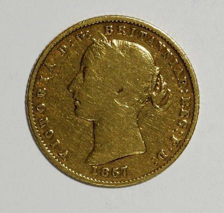 74006: Australia Victoria gold Half Sovereign 1857,