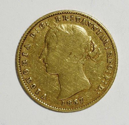 74007: Australia Victoria gold Half Sovereign 1857,