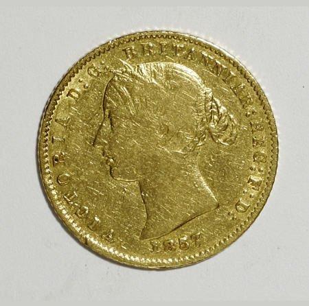 74008: Australia Victoria gold Half Sovereign 1857,