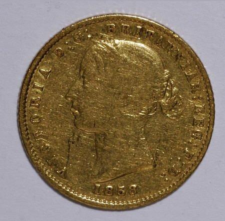 74010: Australia Victoria gold Half Sovereign 1858,