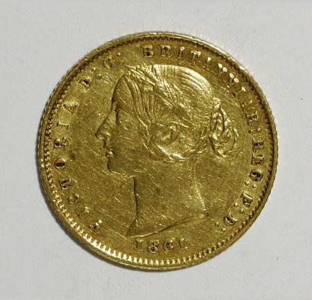 74012: Australia Victoria gold Half Sovereign 1861,