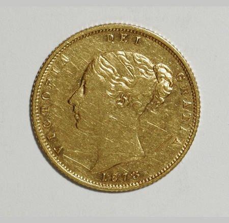 74013: Australia Victoria gold Half Sovereign 1873-M,