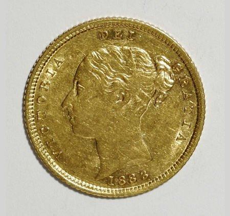 74014: Australia Victoria gold Half Sovereign 1883-S,