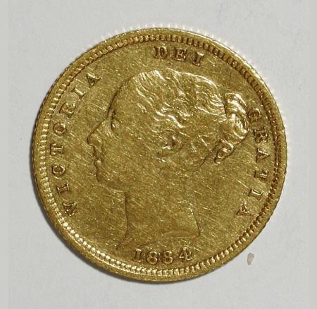 74015: Australia Victoria gold Half Sovereign 1884-M,