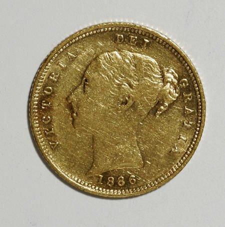 74017: Australia Victoria gold Half Sovereign 1886-M,
