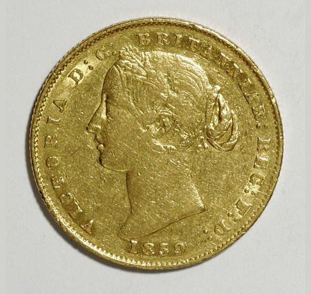 74018: Australia Victoria gold Sovereign 1859, KM4,