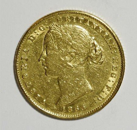 74019: Australia Victoria gold Sovereign 1863,