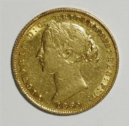 74020: Australia Victoria gold Sovereign 1863, KM4,