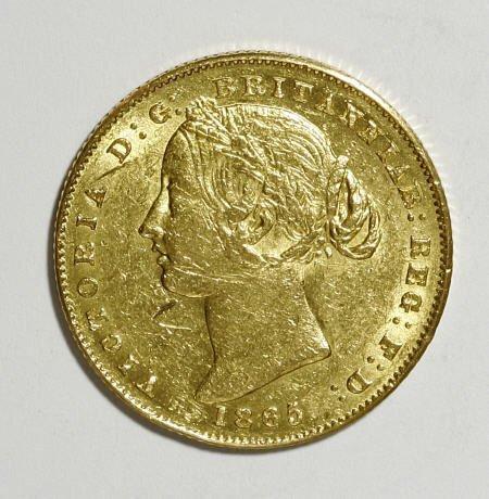 74021: Australia Victoria gold Sovereign 1865, KM4,