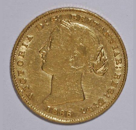 74022: Australia Victoria Soveriegn 1866,