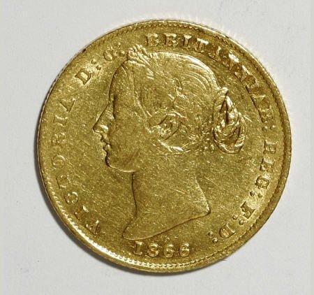 74023: Australia Victoria gold Sovereign 1866, KM4,