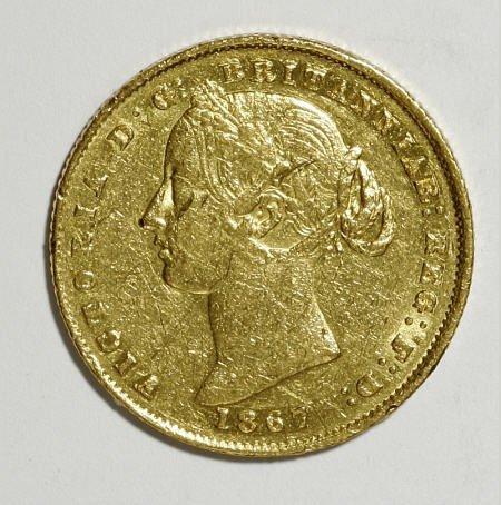 74024: Australia Victoria gold Sovereign 1867, KM4,