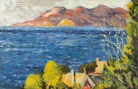 79006: ALEXANDRE ALTMANN Untitled (landscape) Oil on