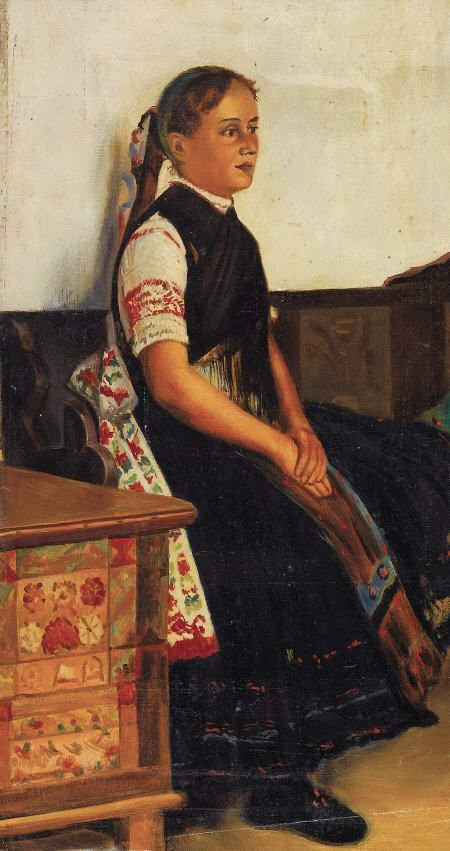79020: NICHOLAI VASILLIEVICH HARITONOFF Portrait of a