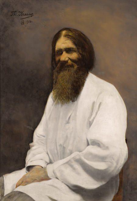 THEODORA KRARUP Portrait of Rasputin, 1916 Oil