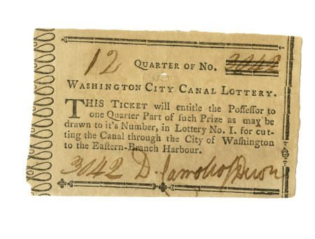 56004: Daniel Carroll Signed Printed Lottery Ticket