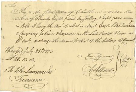 56008: Oliver Ellsworth Revolutionary War-date