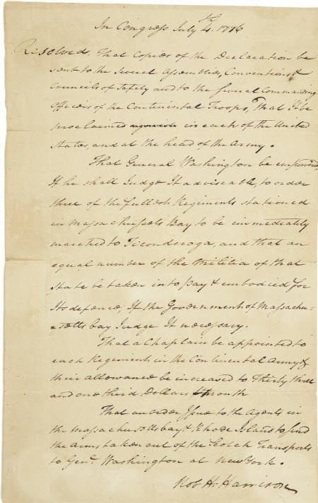 56014: Robert Hanson Harrison 1776 George Washington
