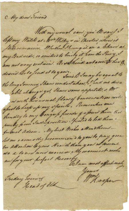 56016: William Hooper ALS to Joseph Hewes
