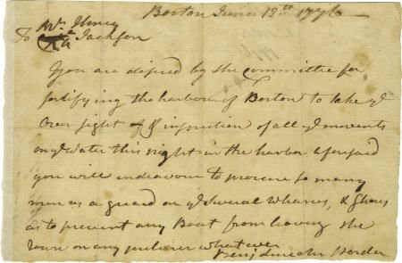 56019: Benjamin Lincoln Henry Jackson Boston Harbor