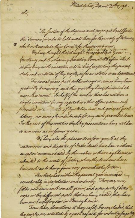 56020: Thomas McKean Autograph Letter Signed
