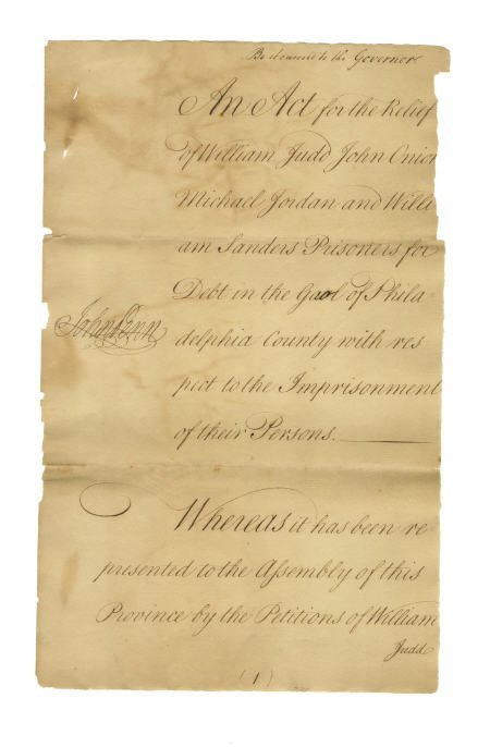56023: John Morton and John Penn Document Signed