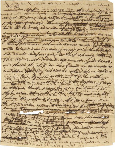 58002: Early Ocean Passage Letter circa 1750-1800