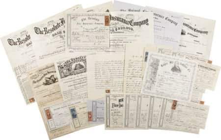 58010: 1860s-1870s New York Fire Insurance Documents