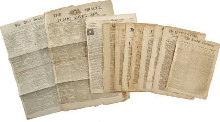 58011: Collection of 18th Century British Newspapers