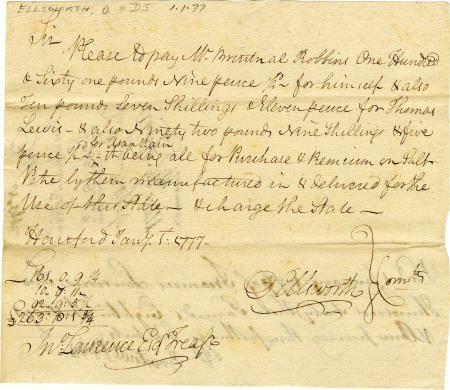 58019: Document Signed by Oliver Ellsworth