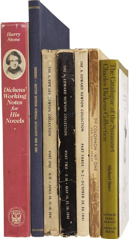 [Charles Dickens.] Lot of Eight Dickens-Related