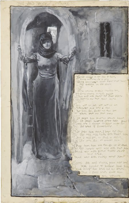 66001: EDWIN AUSTIN ABBEY - Mad Maydes Songe, 1881