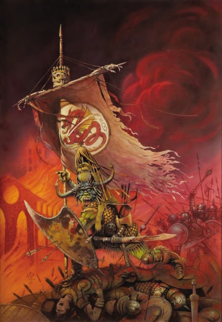 66003: CHRIS ACHILLEOS - Armies of Death Cover Painting