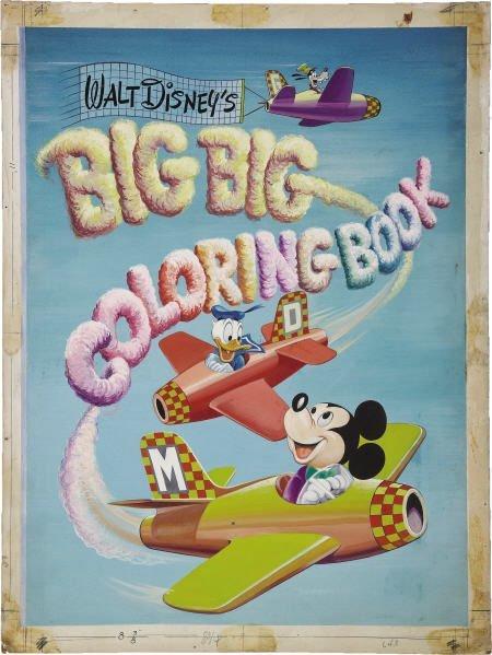 66016: AMERICAN ARTIST Walt Disney's Coloring Book Art