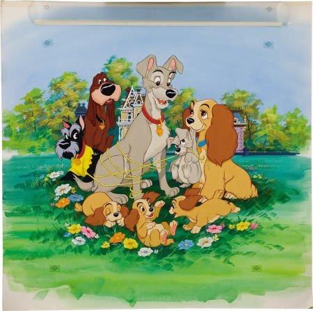 66018: AMERICAN ARTIST Walt Disney's Lady & the Tramp