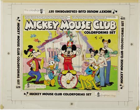 66019: AMERICAN ARTIST  Mickey Mouse Colorforms Box Art