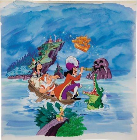 66021: AMERICAN ARTIST (20th Century) Peter Pan Art